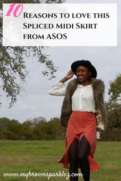 There are 10 reasons to love this high-waisted midi-skirt from ASOS. Find out what they are! Click to read the post