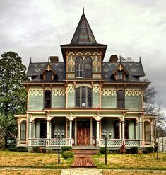 victorian house - love the shingle design - I wonder if anyone will do that anymore...