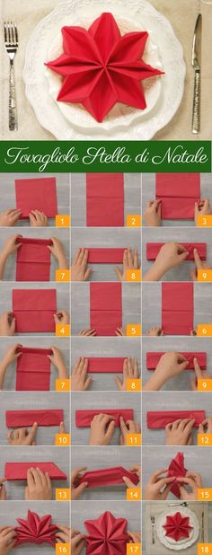 ideas DIY Christmas table decorations ideas napkin folds for 2019 (no title) Christmas napkins and unusual folding ideas - Christmas party - All about ChristmasFancy Christmas Napkin Folding Ideas - Christmas Party - All Christmas Napkin Folding, Christmas Tree Napkins, Christmas Table Settings, Christmas Holidays, Christmas Decorations, Table Decorations, Origami Christmas, Christmas Tables, Christmas Carol