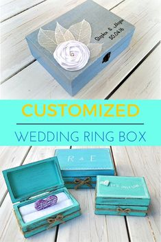 Rustic wooden wedding ring box. Customize yours at https://www.etsy.com/listing/287973651/wedding-ring-box-rustic-ring-box-ring?ref=shop_home_listings
