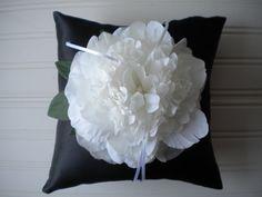 White Peony Ring Bearer Pillow on Etsy, $25.00