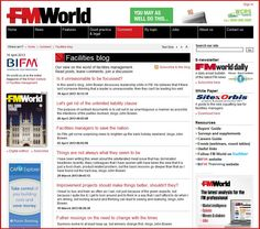 The Facilities Management World blog fm-world.co.uk is the online magazine of the British Institute of Facilities Management. Our view on the world of facilities management.