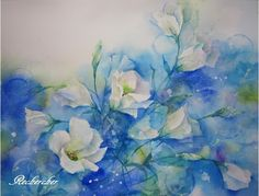 夢色水彩画 ~トルコキキョウ~ ♡ |アトリエ・ルシェルシェ~花の絵と、もの創り~