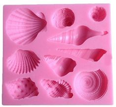 Sea Shell Candy Molds, Chocolate Molds, Silicone Molds, Soap Molds, Silicone #CTKcom