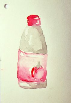"""Tomato sauce"" Water color on paper"
