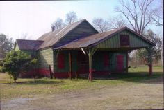Arbroth store at its original location before the West Baton Rouge Museum moved the store to Port Allen.