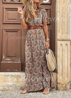 Bohemian V Neck Short Sleeve Printed Colour Dress Bohemian V Neck Short Sleeve Printed Colour Dress Source by jessicatayl. - Bohemian V Neck Short Sleeve Printed Colour Dress Casual Dresses, Short Dresses, Fashion Dresses, Casual Outfits, Casual Boots, Women's Fashion, Fashion Ideas, Dresses Dresses, Summer Outfits