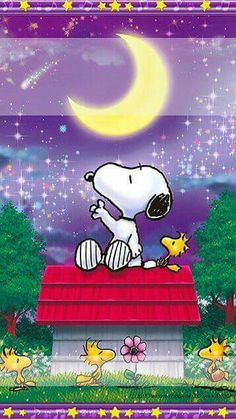 Snoopy and the moon