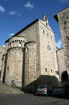 Anagni Cathedral, Anagni, East End East end with triple apse and south transept.