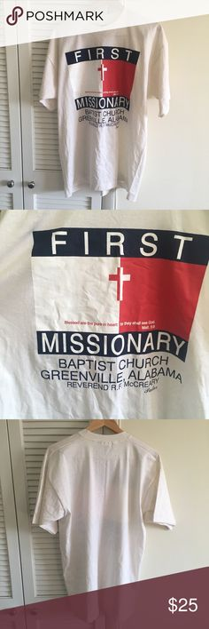 Bootleg white  Tommy Hilfiger missionary church White vintage vtg bootleg Tommy Hilfiger missionary church shirt Has a cross in between the the flag and location of an Alabama church Supreme condition No stains no damages no holes  Fits perfect to size  Willing to negotiate offer Tommy Hilfiger Shirts Tees - Short Sleeve