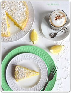 From Capri - Lemon Cake ~~  Inspired by a breakfast on Capri during a holiday in Italia.   This is a really easy lemon cake, with no glazes and no whipping or folding. By design the cake is not overly sweet, hence, no lemon glaze. A little almond flour enhances the taste and a dusting of powdered sugar is just enough.