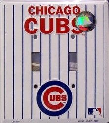 Chicago Cubs Double Light Switch Plate Cover