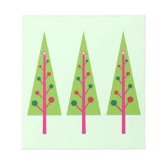 Christmas Trees Scratch Pads  #Christmas #Tree #Notepad