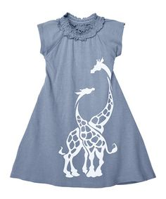 This Gray Giraffe Organic A-Line Dress - Kids & Tween by Wee Urban is perfect for the zoo! #zulilyfinds