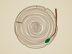 Listen to Nature - Tree Ring Record designed by Michael E. Tree Ring Tattoo, Ring Tattoos, Graphic Design Inspiration, Tattoo Inspiration, Ring Logo, Wood Logo, 2 Logo, Tree Logos, Tree Rings