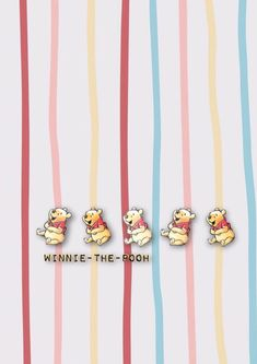 Friends Wallpaper, Cute Disney Wallpaper, Pooh Bear, Cute Wallpapers, Yuri, Winnie The Pooh, Patterns, Block Prints, Pretty Phone Backgrounds