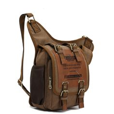 Mens Retro Canvas Travel Shoulder Bags Messenger Bag...