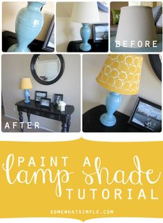How To Paint A Lampshade How To Paint A Lamp Shade Httpapronsandstilletoshowtopaint
