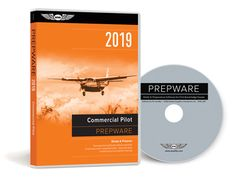 Prepware Commercial Pilot - Comprehensive preparation and study software for the Commercial Pilot and Military Competency FAA exams. Includes FREE access to Prepware Online. Commercial Pilot Training, Aviation Training, Knowledge Test, Prep Book, Helicopter Pilots, Training Materials, Test Prep, Software, Books