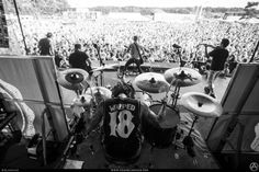 Yellowcard at one of their Warped Tour performances.