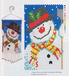 New Year products from beads Christmas Perler Beads, Crochet Christmas Ornaments, Beaded Ornaments, Christmas Crafts, Xmas, Bead Loom Patterns, Beading Patterns, Beaded Banners, Christmas Wall Hangings
