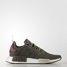 NMD footwear continues on its progressive spiral in fresh new combinations of urban style and running-inspired design.  These women's shoes feature a textured mesh upper for a sleek knit look. With boost™ cushioning to help keep energy coming. Best of all, they feel as comfy as a sock, thanks to a suede lining.