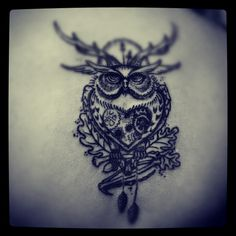 This is the only owl that I have actually really liked. I think. I would need to see a better picture of it. So many owl tattoos are the same. This is different