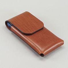 Minimalist Brown iPhone 6 Case Integral Belt by FleurdeLeather