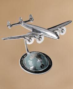 Chrome/Silver Vintage Airplane Centerpieces