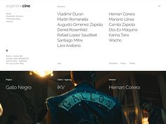 Web: Contacts page. For Argentina Cine