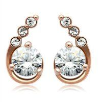 These Rose Gold Earrings add the perfect amount of glitz to any outfit. Trendy Jewelry, Jewelry Shop, Fashion Jewelry, Women's Fashion, Rose Gold Earrings, Diamond Earrings, Stud Earrings, Cubic Zirconia Earrings, Fashion Designer
