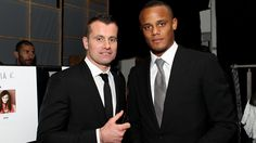 Shay Given and Vincent Kompany at Fashion Kicks 2012