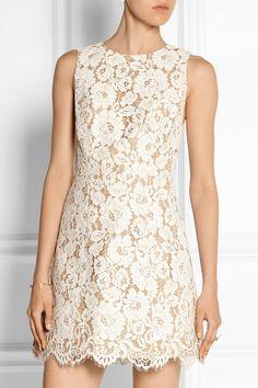 Alice + Olivia Leann cotton-blend guipure lace mini dress NET-A-PORTER.COM