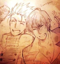 """""""For Love!"""" """"& For Peace!""""  - Vash the Stampede & Nicholas D Wolfwood"""