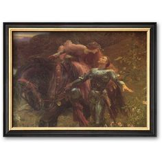 Art.com La Belle Dame Sans Merci Framed Art Print by Sir Frank Dicksee ($84) ❤ liked on Polyvore featuring home, home decor, wall art, multicolor, wooden wall art, framed wall art, english home decor, wood home decor and wooden home decor