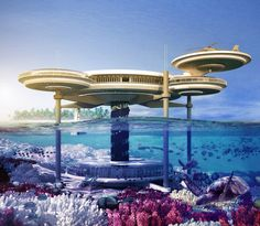 An underwater hotel slated to be built in Dubai. hmhmm they would! lol