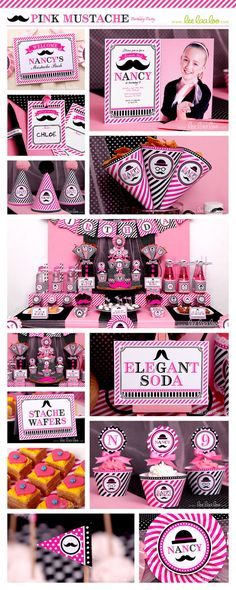 ♥ Pink Mustache Party Theme ♥ II Shop Here…