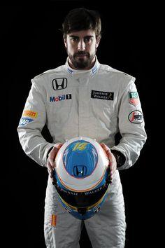 Fernando Alonso McLaren Honda 2015 Formula 1 New Helmet #MakeHistory