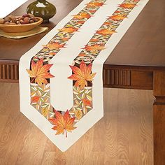 Decorative Fall Leaves Table Linens, Runner Collections Etc