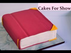 """I made this book cake for a Graduation party. I began with a 12"""" square cake. Making Graduation cake toppers video - Music -..."""