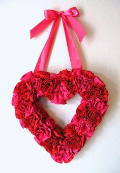 Patchwork en Casa - Patchwork with Love: Propuesta: Corona - Corazón de flores