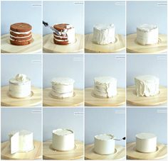 collage layer cake