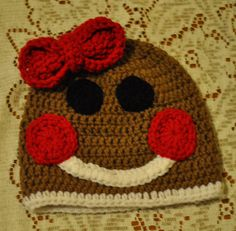 Crochet Gingerbread Hat by LoneStarStitches on Etsy, $14.00