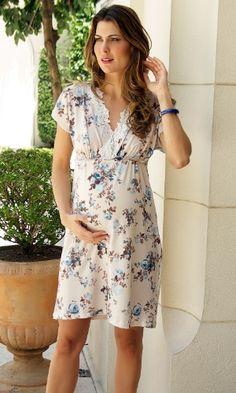 Camisola ou pijama para usar na maternidade  Inspire-se nessa seleção bc953a32d8b5a