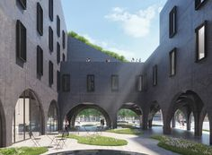 a new york take on the italian courtyard, ODA's bedford hotel