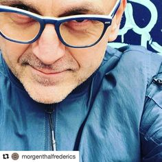 Love seeing our Flynn Sr. in blue and white buffalo horn on @stevenkolb ! Regram from the man himself #signaturestyle #handmade #nowaste #cfda