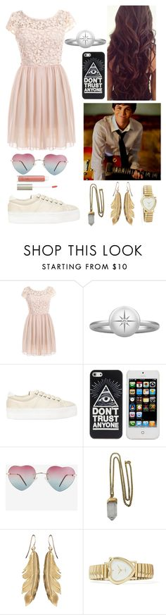 """""""Logan lerman xxx"""" by ellebarnesie ❤ liked on Polyvore featuring Pieces, No Name, Lacey Ryan and Ilia"""