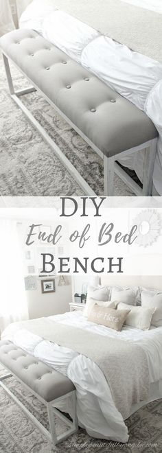 DIY End of Bed Bench