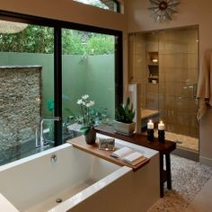 Bathroom overlooking to Terrace