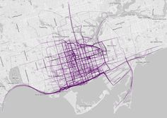 Toronto, Canada | 21 Maps That Show How People Run In Different Cities